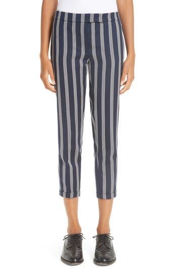 Thom Browne Stripe Crop Skinny Trousers