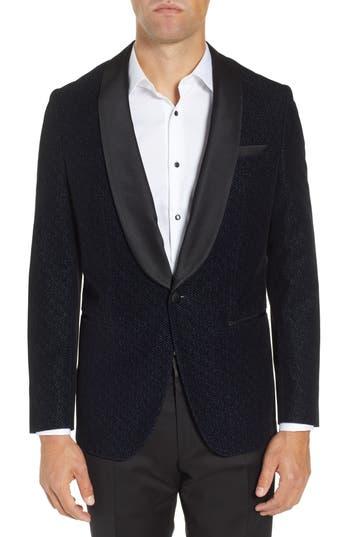 BOSS Hockley Slim Fit Herringbone Wool Blend Dinner Jacket
