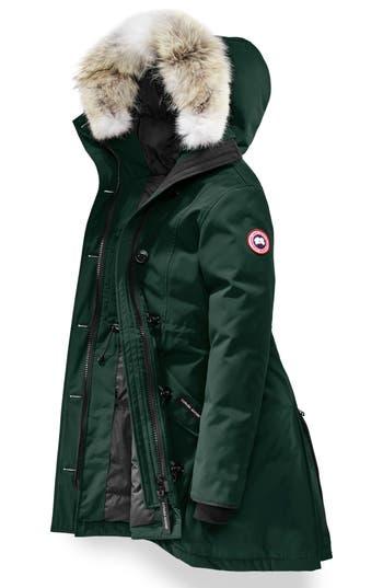 Canada Goose Rossclair Genuine Coyote Fur Trim Down Parka