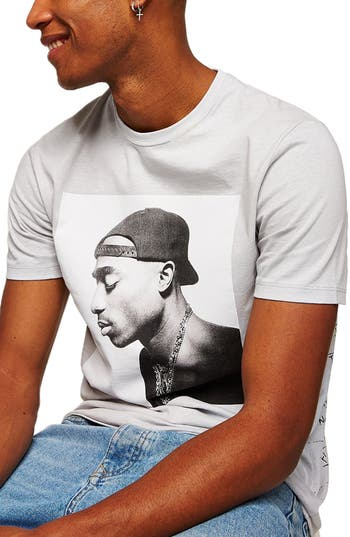 Topman Classic Fit 2Pac Graphic T-Shirt