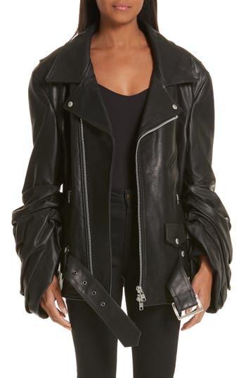 Junya Watanabe Oversized Leather Moto Jacket