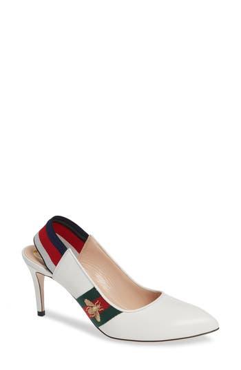 Gucci Sylvie Bee Slingback Pump