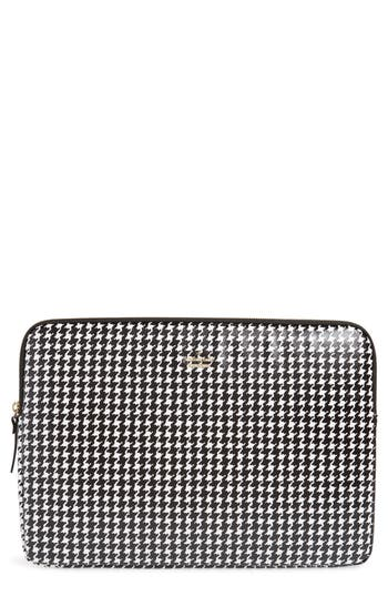 kate spade new york houndstooth faux leather universal laptop sleeve