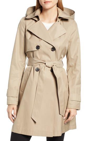 Halogen® Hooded Trench Coat