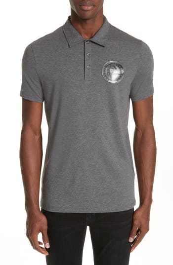 Versace Collection Crest Jersey Polo