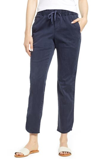 Caslon® Sandwashed Pull-On Pants