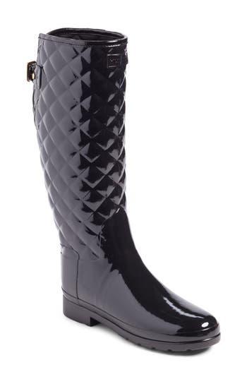Hunter Original Refined High Gloss Quilted Waterproof Rain Boot