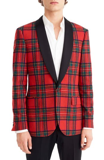 J.Crew Ludlow Slim Fit Tartan Wool Blend Dinner Jacket