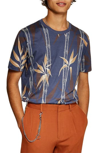 Topman Bamboo Print T-Shirt