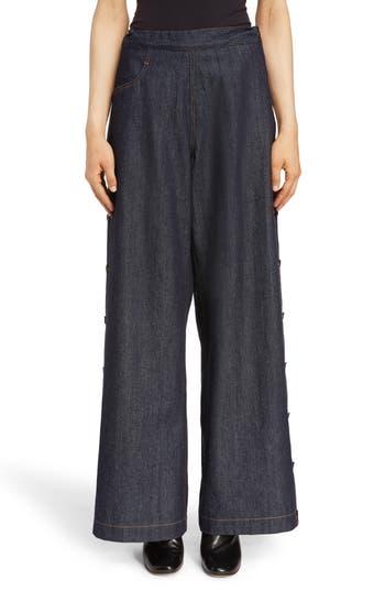 Y's by Yohji Yamamoto Side Button Wide Leg Jeans