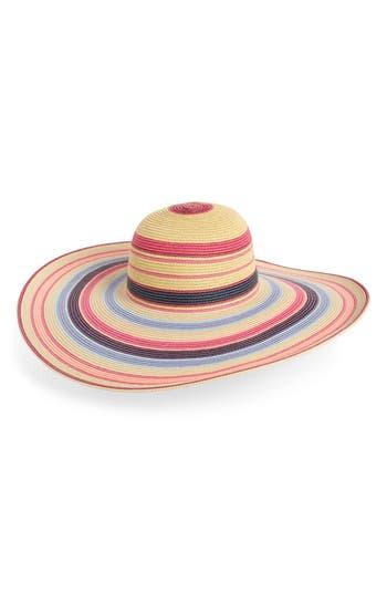 Nordstrom Ombré Stripe Floppy Straw Hat