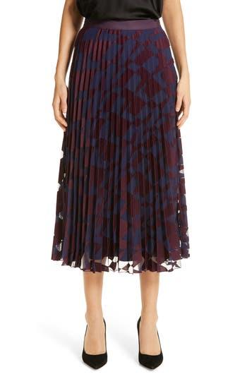 BOSS Valace Abstract Plissé Midi Skirt