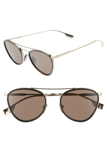 Burberry 51mm Aviator Sunglasses