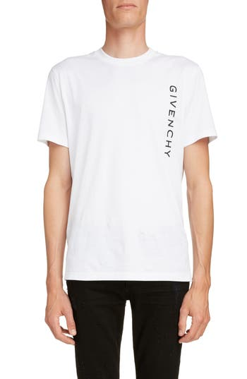 Givenchy Vertical Logo Embroidered T-Shirt