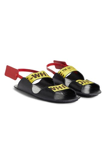 Off-White Zip Tie Leather Sandal