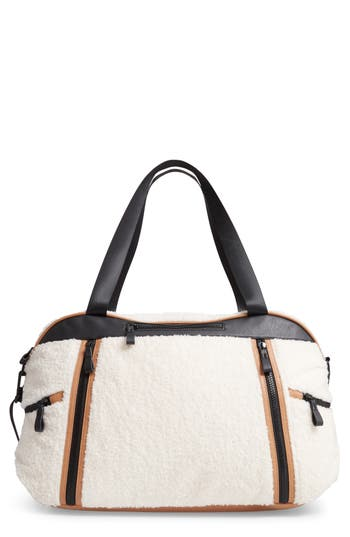 Violet Ray New York Faux Shearling Weekend Bag