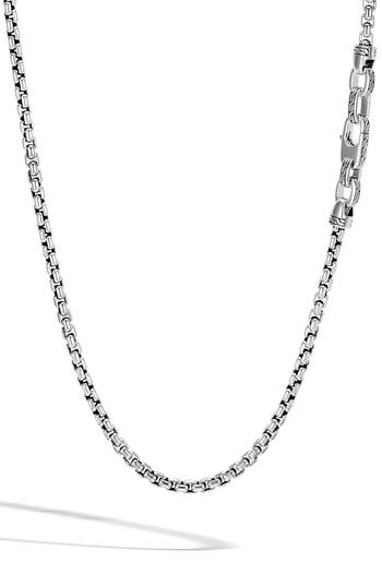 John Hardy Box Chain Men's Sterling Silver Necklace