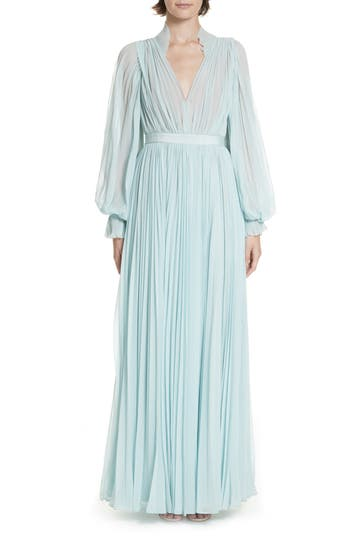 Self-Portrait Chiffon Maxi Dress