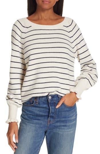 Rebecca Taylor Stripe Wool Blend Sweater