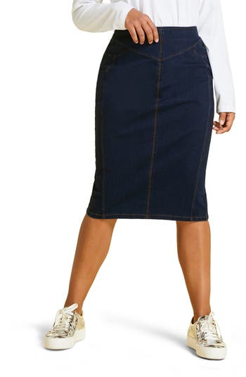 Marina Rinaldi Caorle Denim Jacquard Skirt