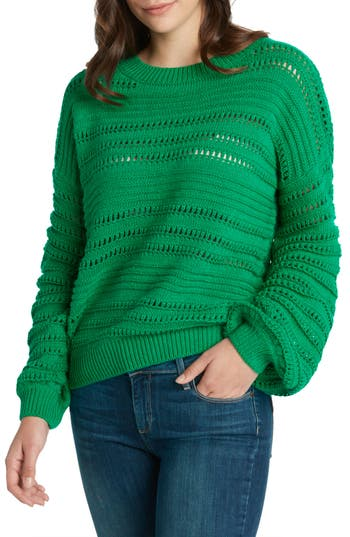 Willow & Clay Open Weave Stripe Sweater