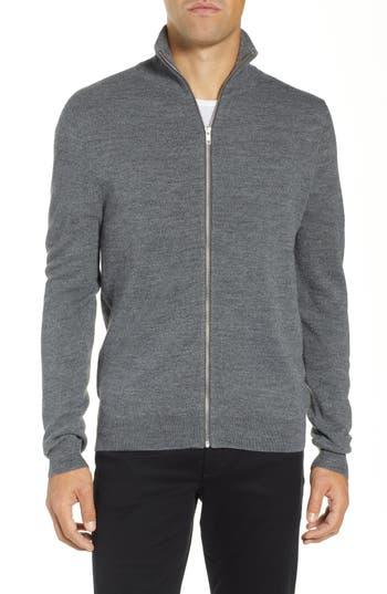 Calibrate Merino Wool Blend Zip Front Cardigan