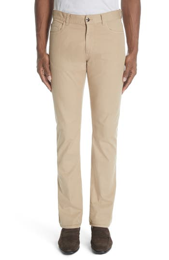 Canali Stretch Cotton Five Pocket Trousers