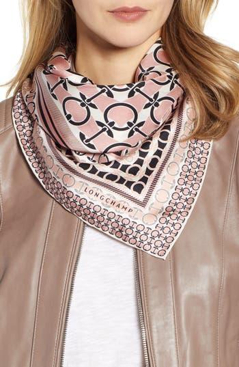 Longchamp Anneaux Silk Scarf