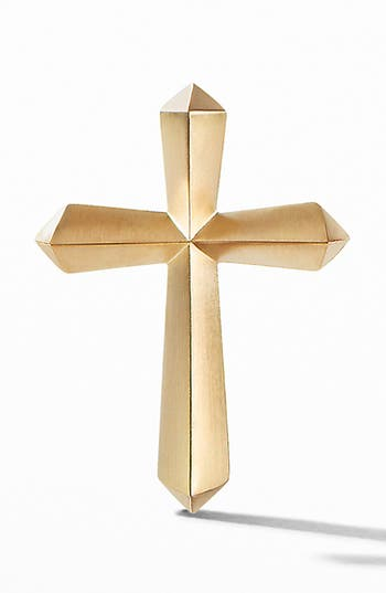 David Yurman Roman Cross 18K Gold Lapel Pin