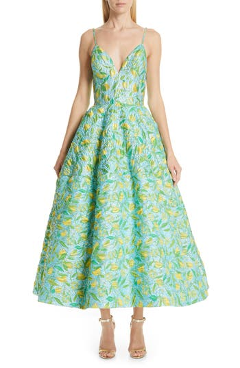 Christian Siriano Floral Evening Dress