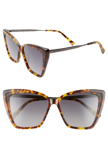 DIFF Becky II 55mm Cat Eye Sunglasses