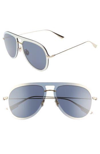 Dior Ultime1 57mm Aviator Sunglasses