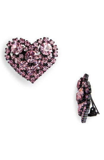 Ashley Williams Heart Clip On Earrings