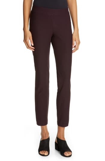 Eileen Fisher Stretch Crepe Ankle Pants
