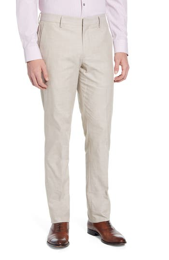 Bonobos Flat Front Solid Cotton Trousers