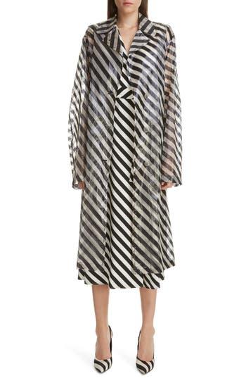 Dries Van Noten Rubor Transparent Stripe Trench Coat