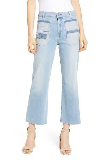 7 For All Mankind® Alexa High Waist Patch Pocket Crop Wide Leg Jeans (Roxy Lights)
