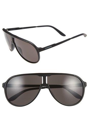 Carrera Eyewear 62Mm Aviator Sunglasses - Matte Black/ Brown Grey