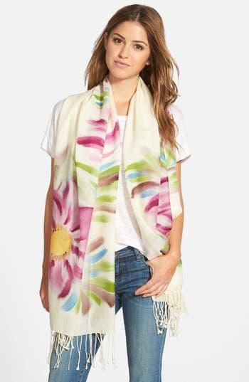 Women's La Fiorentina Floral Wool Scarf