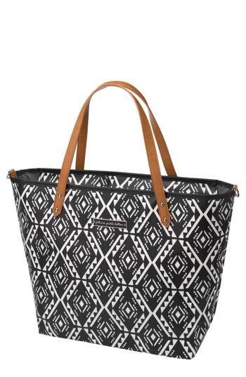 Infant Girl's Petunia Pickle Bottom 'Downtown' Glazed Canvas Tote - Black