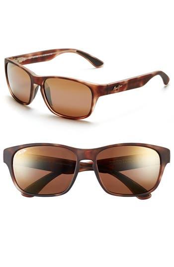 Men's Maui Jim 'Mixed Plate - Polarizedplus2' 58Mm Sunglasses - Matte Tortoise/ Bronze