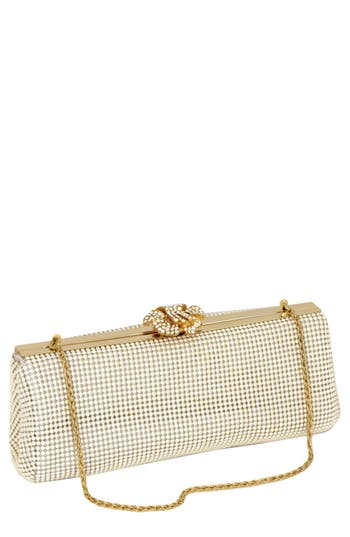 Whiting & Davis 'Crystal Flower' Metal Mesh Clutch - at NORDSTROM.com