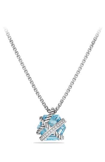 Women's David Yurman 'Cable Wrap' Pendant Necklace With Diamonds