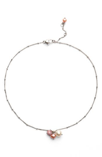 Girl's Honora White Rose Pearl Necklace