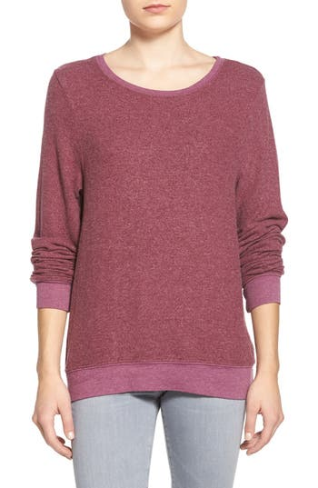 Women's Wildfox 'Baggy Beach Jumper' Pullover, Size X-Large - Purple