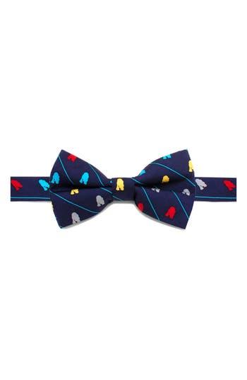 Boys Cufflinks Inc. Star Wars TM R2D2 Stripe Silk Bow Tie Size Big Boy  Blue