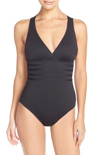 La Blanca Cross Back One-Piece Swimsuit