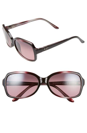 Maui Jim Cloud Break 5m Polarizedplus2 Sunglasses - Maui Rose/ Burgundy Fade
