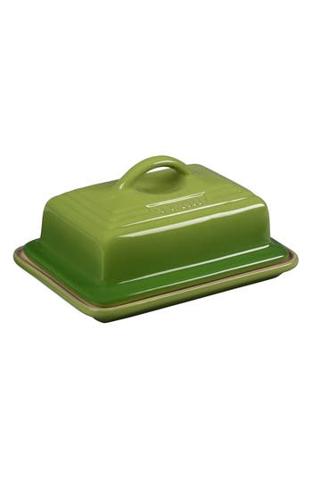 Le Creuset 'Heritage' Stoneware Butter Dish & Lid, Size One Size - Green