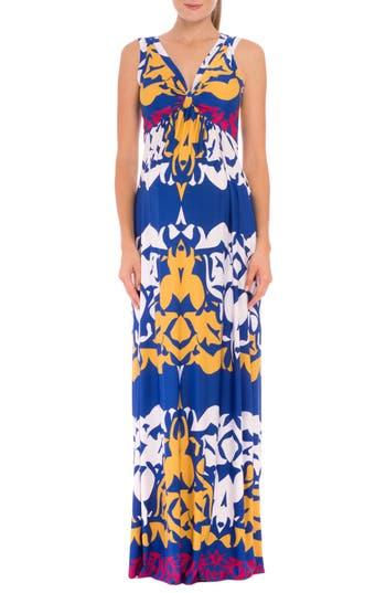 Women's Olian 'Ellie' Print Maternity Maxi Dress